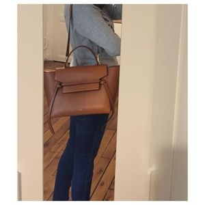 Celine caramel mini belt bag!